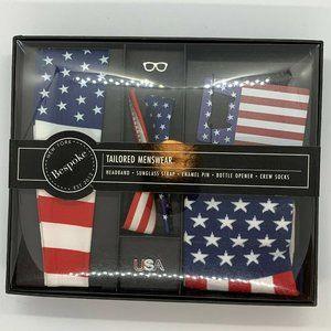 NIB! Bespoke America Box 5pcs 4th of July Gift Set